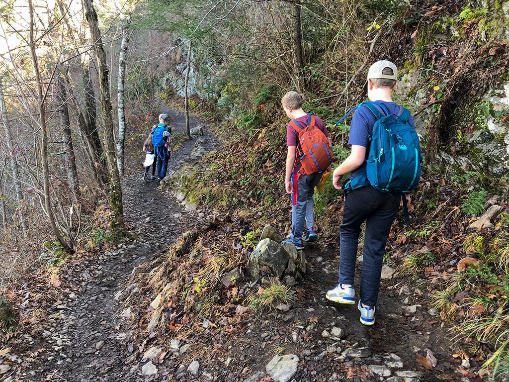 Abrams Falls Trail - Rocky area descending down