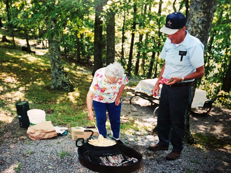 Metcalf Bottoms Picnic Area Frying Taters
